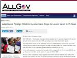 Рынок усыновления детей в США из других стран обрушен.