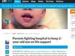 """Внимание! Поступь Нового Мирового Порядка: принудительная эвтаназия детей! Родители США борются против диагноза детям """"Смерть мозга""""…"""