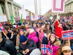В Ирландии протестуют против ювенального террора по-норвежски. 24 января 2016 года. (Фото)