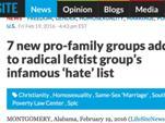 """Идеология Нового Мирового Порядка. США: """"Черный список"""" из защитников традиционной морали."""