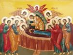 Величаем Тя, Пренепорочная Мати Христа Бога нашего, и всеславное славим Успение Твое!